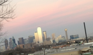 The gorgeous sunset view from bar belmont