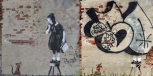 Banksy - Girl&Rat