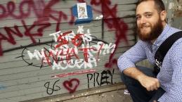 Banksy Oct 2 piece vandalized